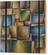 More Than Squares Wood Print by Kyle Lang