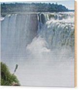More Waterfalls At Devil's Throat In Iguazu Falls National Park-  Wood Print