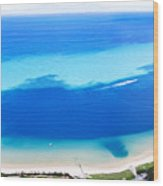 Moreton Island Aerial View Wood Print
