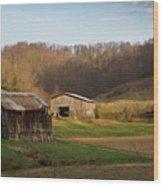 Morgan County Farm Valey Wood Print