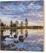 Morgan Lake Sunrise Wood Print