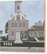 Morgan Point Mystic Harbor Conn Wood Print