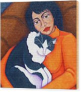 Morgana With Woman Wood Print