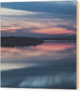 Morii Lake At Sunset Wood Print