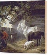 Morland: Farmyard, 1792 Wood Print