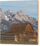Mormon Barn Wood Print