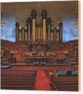 Mormon Meeting Hall Wood Print