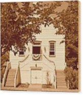 Mormon Pine Valley Meeting House Wood Print
