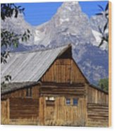 Mormon Row Barn  1 Wood Print