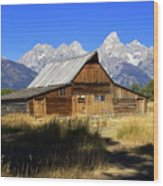 Mormon Row Barn 2 Wood Print