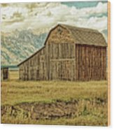 Mormon Row Barn No 3 Wood Print