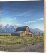Mormon Row Hdr Wood Print