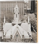 Mormon Temple Wood Print