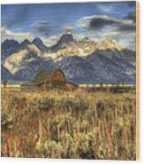Mormons Row Barn Wood Print