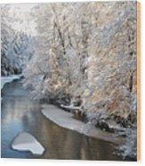 Morning After Snowfall Wood Print