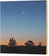 Morning Alpenglow Wood Print