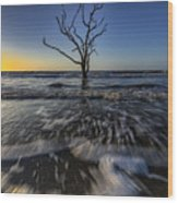 Morning At Botany Bay Plantation Wood Print