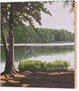 Morning At City Lake Park Wood Print