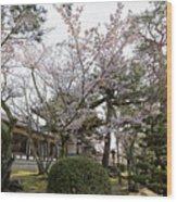 Morning At Horyu-ji Temple Wood Print