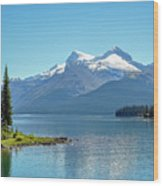 Morning At Lake Maligne, Canada Wood Print