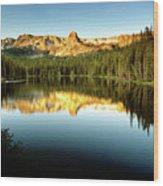 Morning At Lake Mamie Wood Print