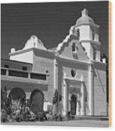 Morning At San Luis Rey Mission Wood Print