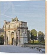 Morning At The Arc De Triomphe Du Carrousel  Wood Print