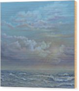 Morning At The Ocean Wood Print