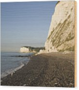 Morning At The White Cliffs Of Dover Wood Print