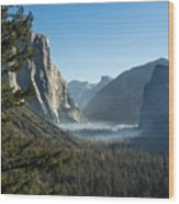 Morning At Tunnel View Wood Print