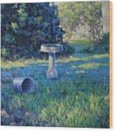 Morning Bathwater Wood Print