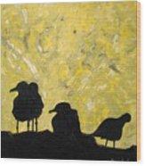 Morning Birds Wood Print