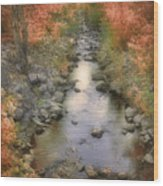 Morning By The Creek Wood Print