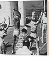 Morning Calisthenics On The Rms Queen Mary 1938 Wood Print
