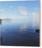 Morning Calm Kaneohe Bay  Wood Print