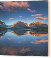 Morning Colors At Ice Field Center Wood Print