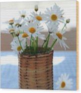 Morning Daisies Wood Print