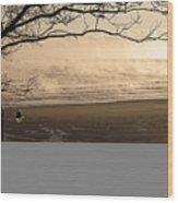Morning Filey Beach Wood Print