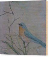 Morning Finch Wood Print