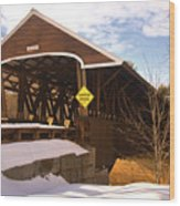 Morning Finds The Rowell Bridge Wood Print