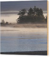 Morning Fishing 3 Wood Print