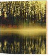 Morning Fog Wood Print