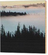 Morning Fog In Northern Saskatchewan Wood Print