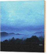 Morning Fog North Wood Print