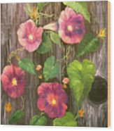 Morning Glories Wood Print