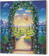 Morning Glory - Awaken To Magic Wood Print