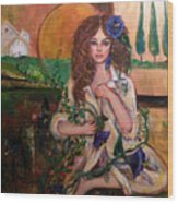 Morning Glory Wood Print by Kimberly Van Rossum