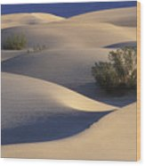 Morning In Death Valley Dunes Wood Print