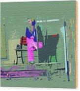 Morning In Her Pink Pajamas Wood Print