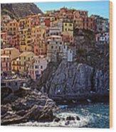 Morning In Manarola Cinque Terre Italy Wood Print